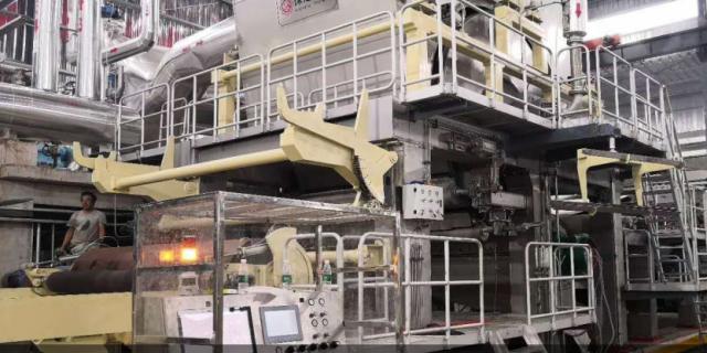 湖北丽邦万博app手机版官网下载有限公司首台高速生活用纸机顺利投产